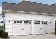 Steel Garage Door In Carriage House Style